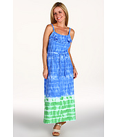 Jones New York - Petite Ruffled Scoop Neck Maxi Dress