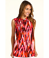 Jones New York - Sleeveless Printed Ikat Pleated Tunic