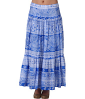 Jones New York - Petite Printed Border Cotton Lawn Maxi Skirt