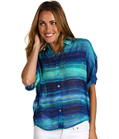 Jones New York - Petite Dolman Sleeve Button Down Shirt