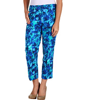 Jones New York - Petite Printed Capri Slim Leg Pant