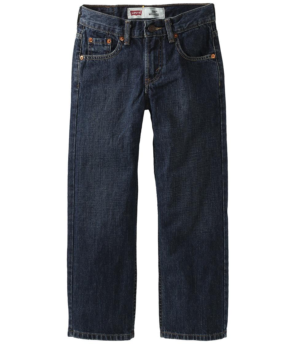 Levis(r) Kids - 550tm Relaxed Fit - Regular (Big Kids) (Dark Crosshatch) Boys Jeans