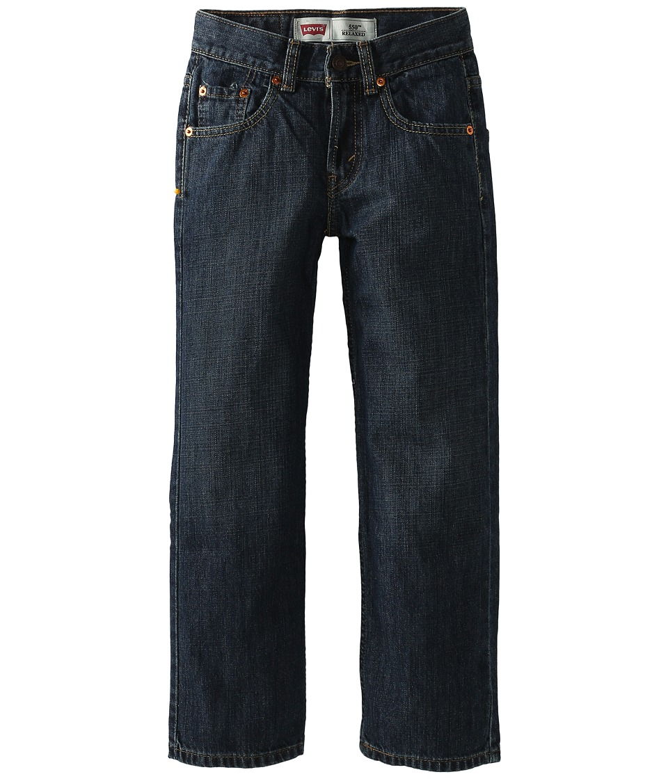 Levis(r) Kids - 550tm Relaxed Fit - Slim (Big Kids) (Dark Crosshatch) Boys Jeans
