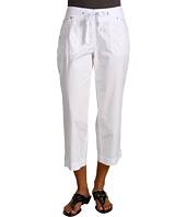 Jones New York - Rigid Poplin Twill Tape Crop Cargo Pant