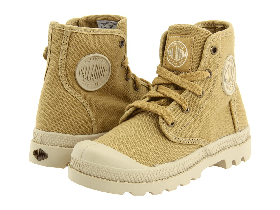Palladium Kids Pampa Hi Little Kid Mustard/Putty Kids Shoes