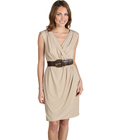 Jax - Solid Jersey Belted Wrap Dress
