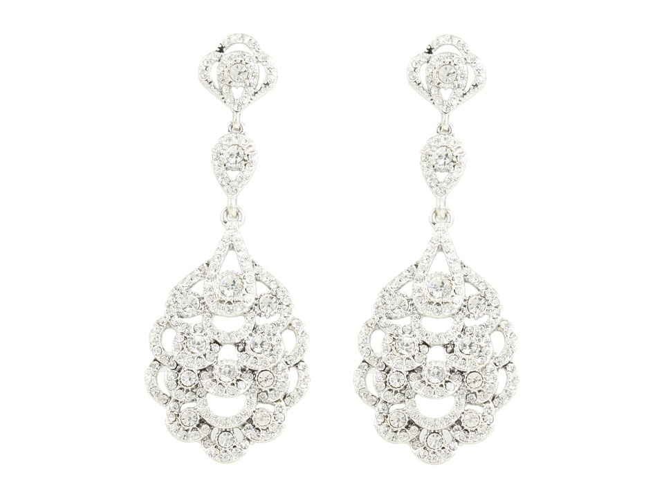 Nina - Eiffel Earrings (Silver/Crystal) Earring