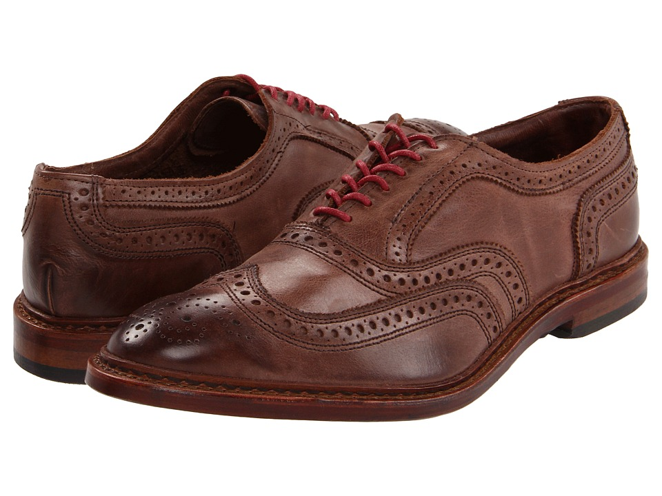 Allen Edmonds Neumok Brown Leather Mens Lace Up Wing Tip Shoes