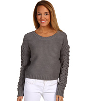 BCBGeneration - Cable Sleeve Crop Sweater
