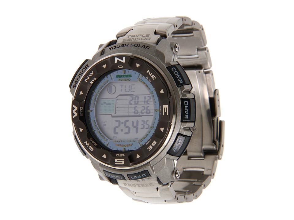 Casio Pro Trek 200 M WR Triple Sensor Watch (Titanium) Wa...