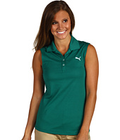 PUMA Golf - Solid Sleeveless Polo Top