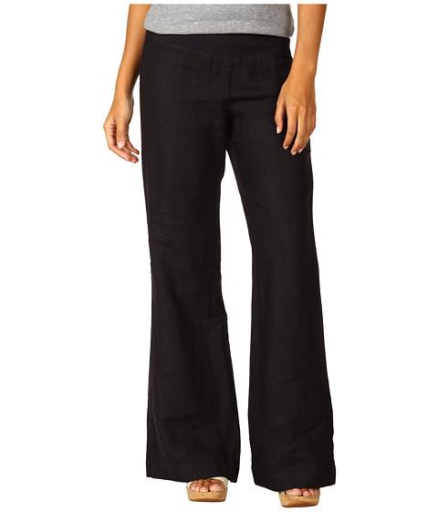 Three Dots Long Flare Linen Pant