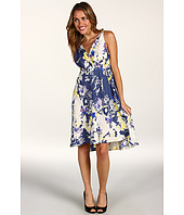 Three Dots - Silk Floral Cross Front Dress