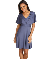 Three Dots - Draped Sleeve V-Neck Dress