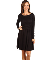 Three Dots - L/S Draped Front Dress with Tie