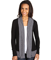 Three Dots - L/S Draped Cardigan