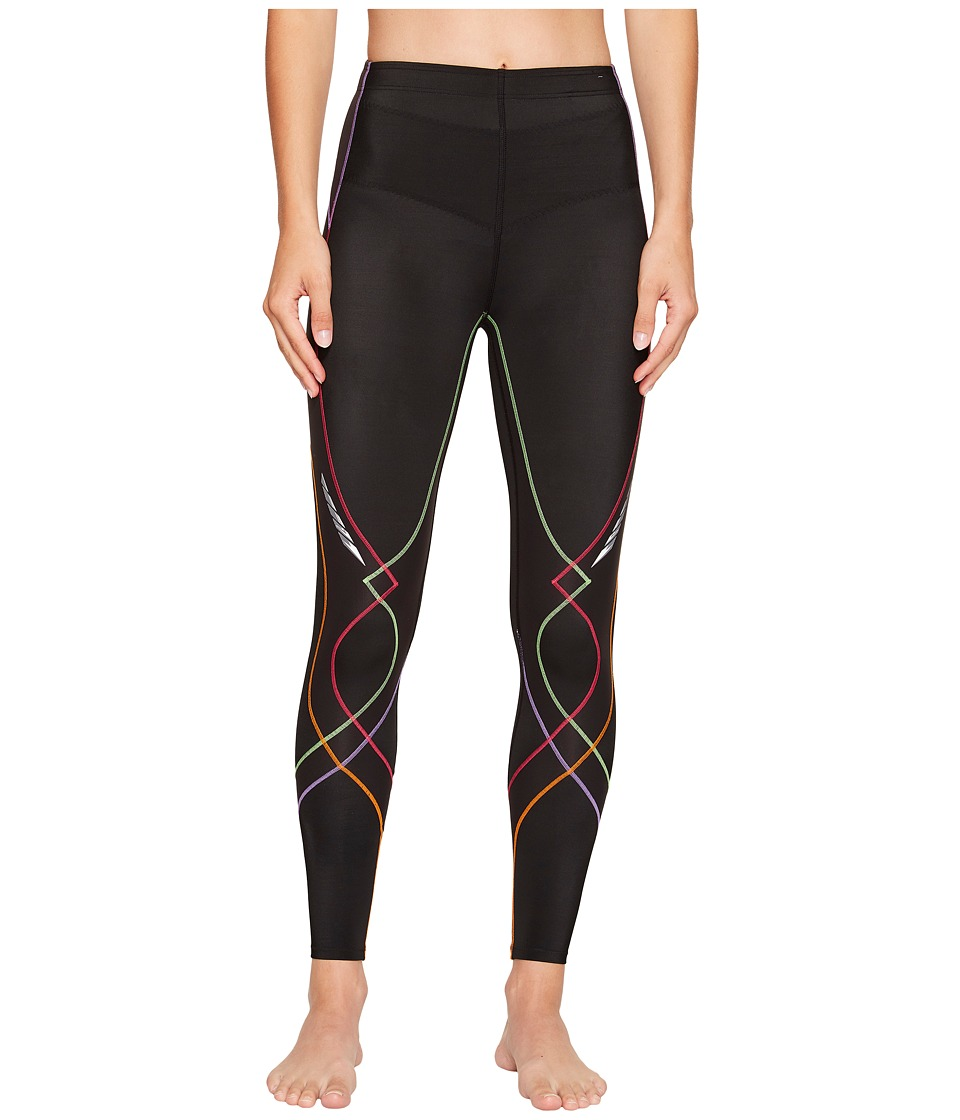 CW-X - Stabilyxtm Tight (Black/Rainbow) Womens Workout