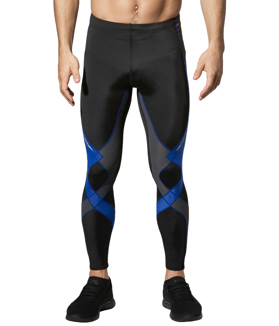 CW-X - Stabilyxtm Tight (Black/Grey/Blue) Mens Workout