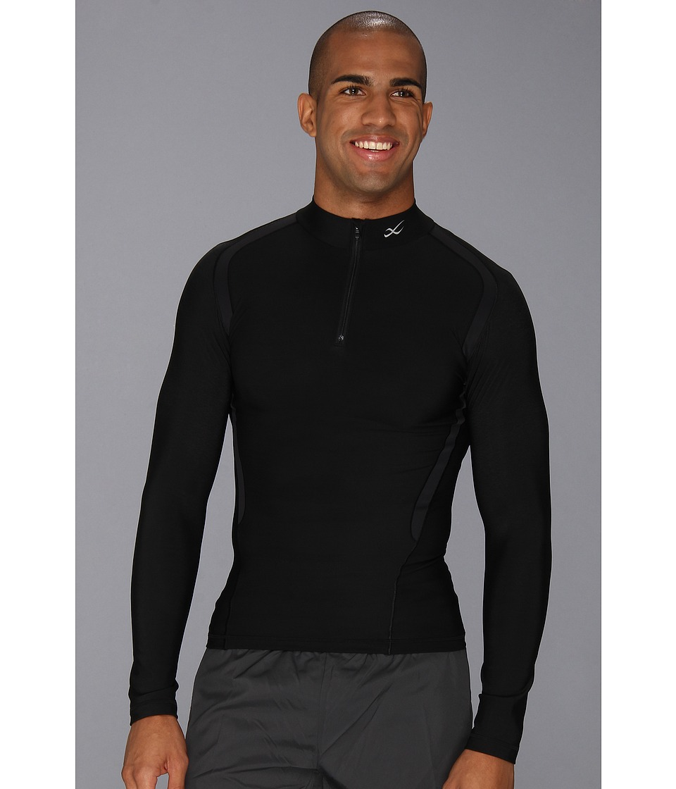 CW X Insulator Web Top Black Mens Long Sleeve Pullover