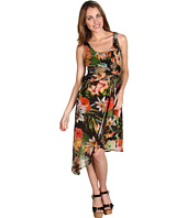 Muse - Hawaiian Print Knot Waist Dress