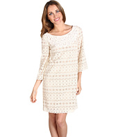 Muse - Crochet Neck Lace Overlay Dress