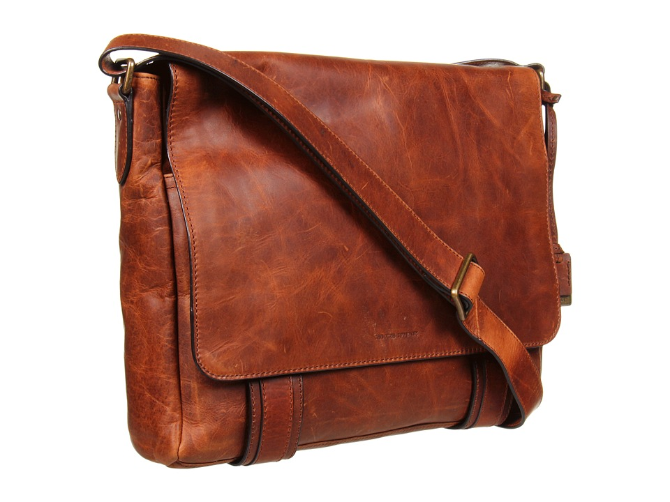 Frye - Logan Messenger (Cognac Antique Pull Up) Messenger Bags