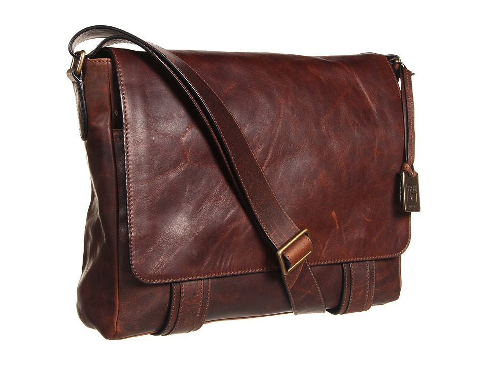 Frye - Logan Messenger (Dark Brown Antique Pull Up) Messenger Bags