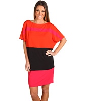 Muse - Color Block Drop Sleeve Wedge Dress