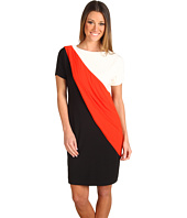 Donna Morgan - Colorblock Asymmetrical Jersey Dress