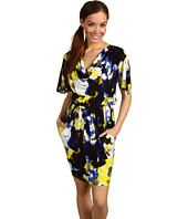 Maggy London - Drape Neck Printed MJ Dress