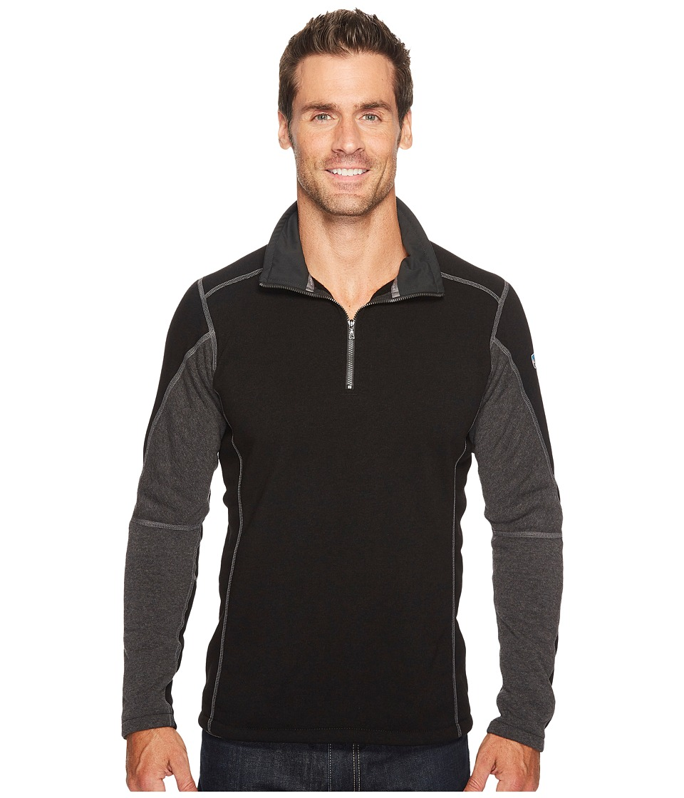KUHL Revel 1/4 Zip (Black/Steel) Men