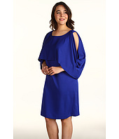 DKNYC - Plus Size Cold Shoulder Double Layer Dress