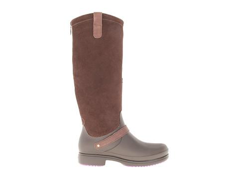 crocs equestrian suede boot 6pm