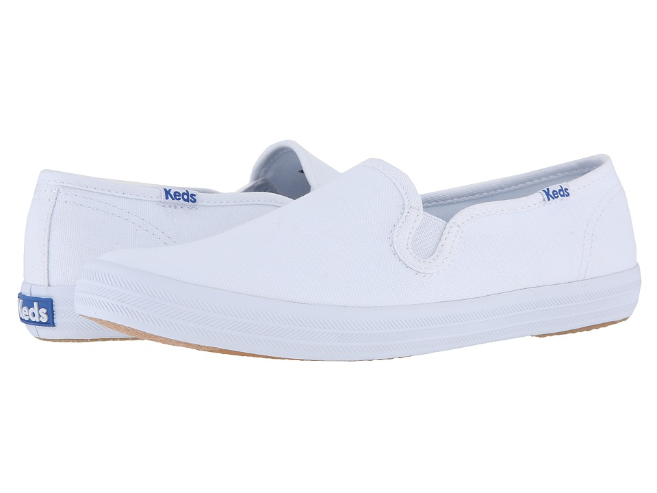 Keds Champion-Canvas Slip-On (White Canvas) Women