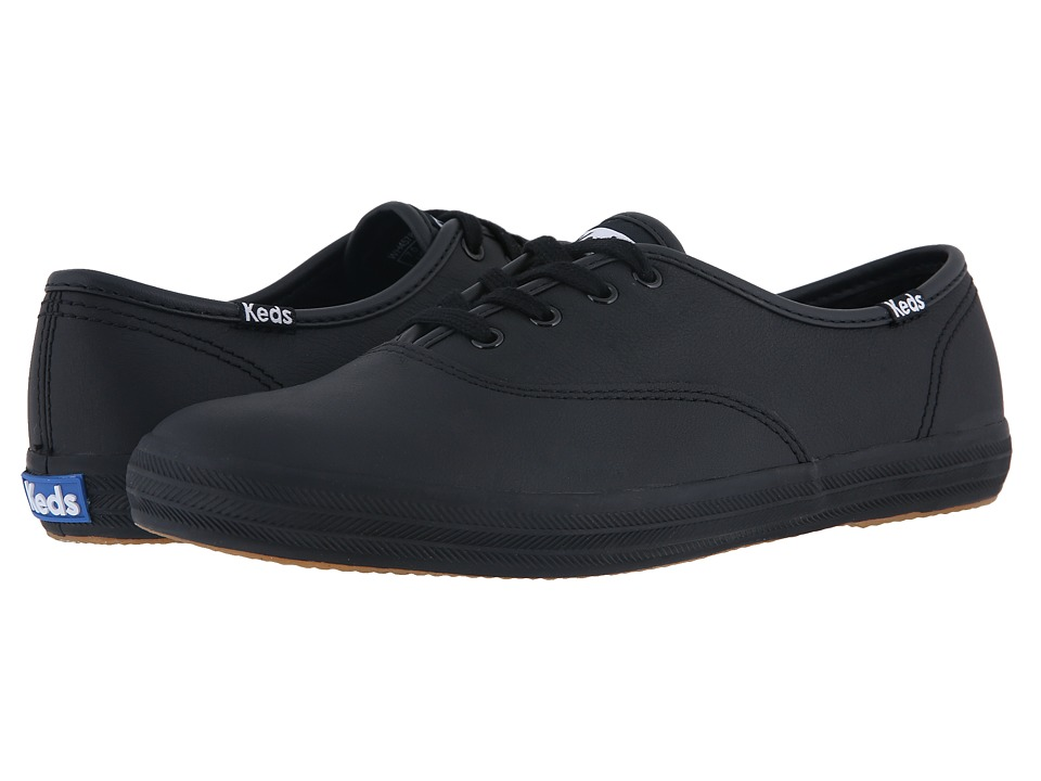 Keds Champion-Leather CVO (Black Leather) Women's Shoes