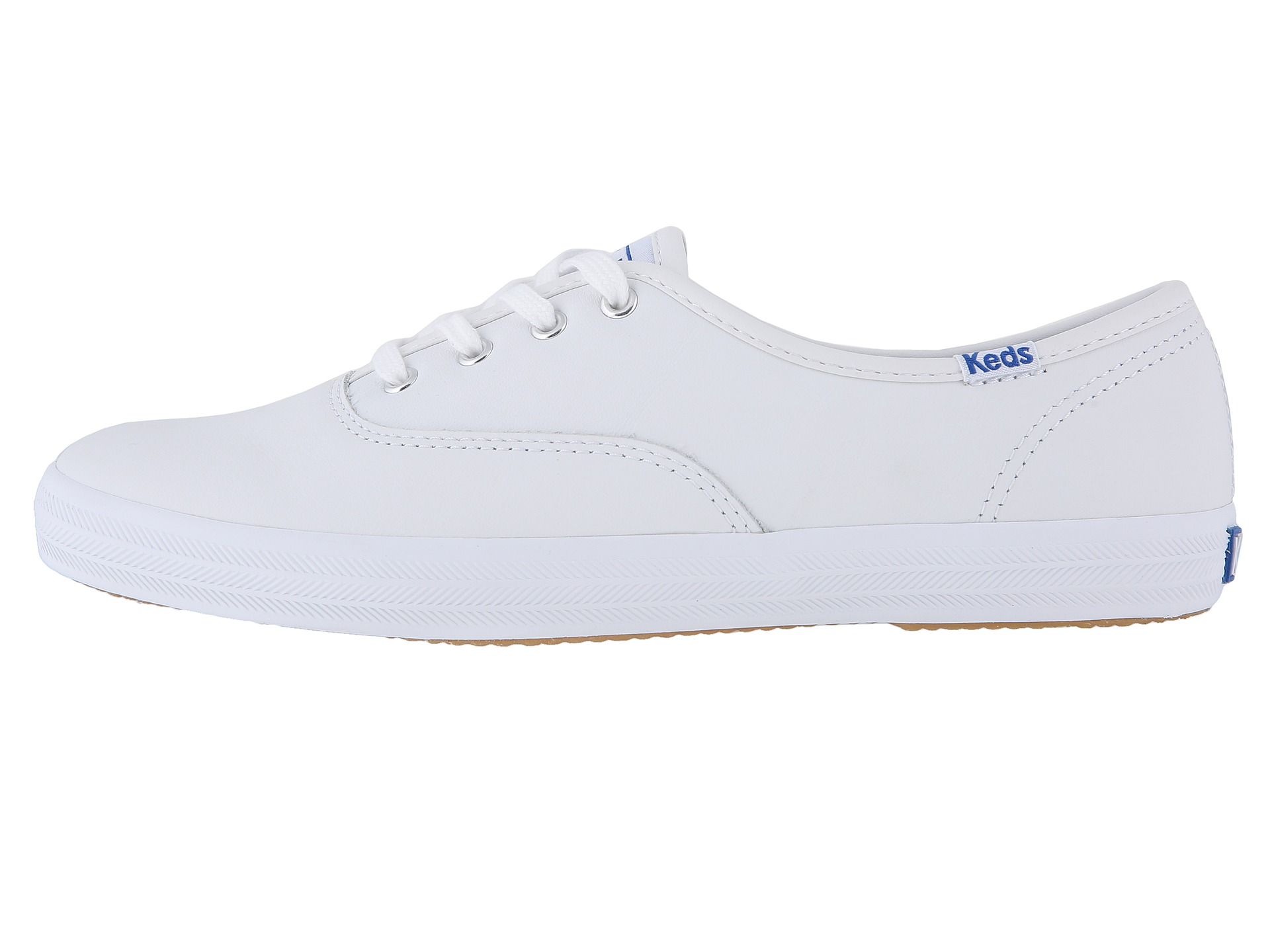 leather keds white