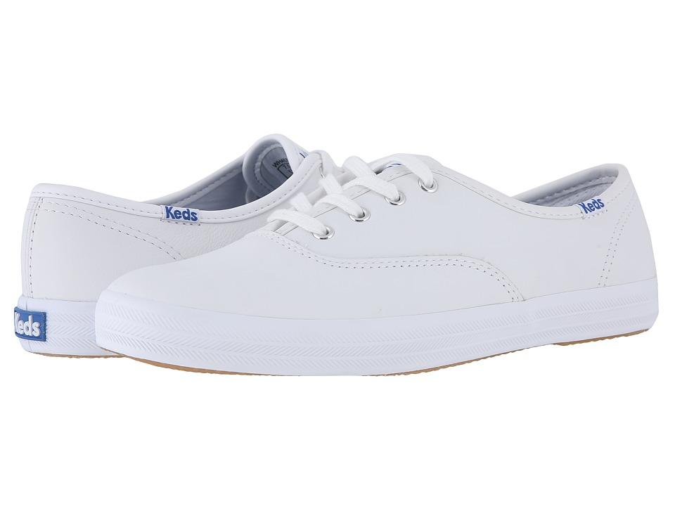 Keds Champion-Leather CVO (White Leather) Women's Lace up...