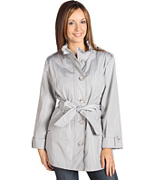 Weatherproof - Ruffle Stand Collar Belted Jacket