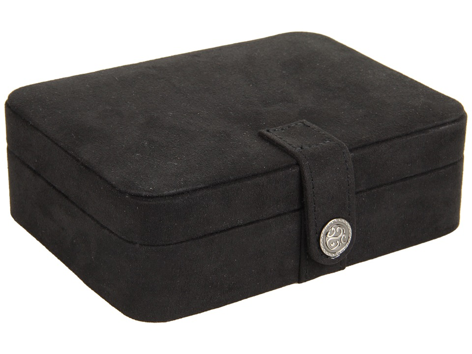 Mele Giana Plush Fabric Jewelry Box Black Jewelry Boxes Small Furniture