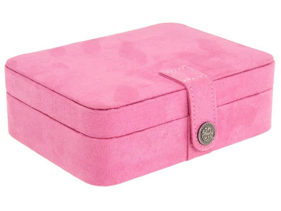 Mele Giana Plush Fabric Jewelry Box Pink Jewelry Boxes Small Furniture