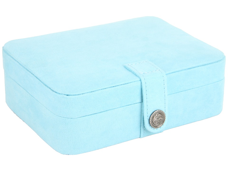 Mele Giana Plush Fabric Jewelry Box Blue Jewelry Boxes Small Furniture
