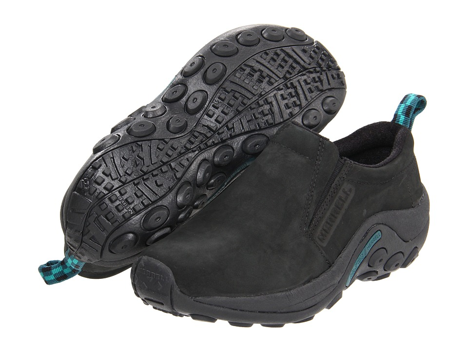 Merrell Jungle Moc Nubuck (Black/Blue) Women's  Shoes