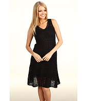 Maggy London - Sleeveless Crochet V-Neck Dress