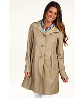 DKNY - Empire Waist Hooded Babydoll Coat