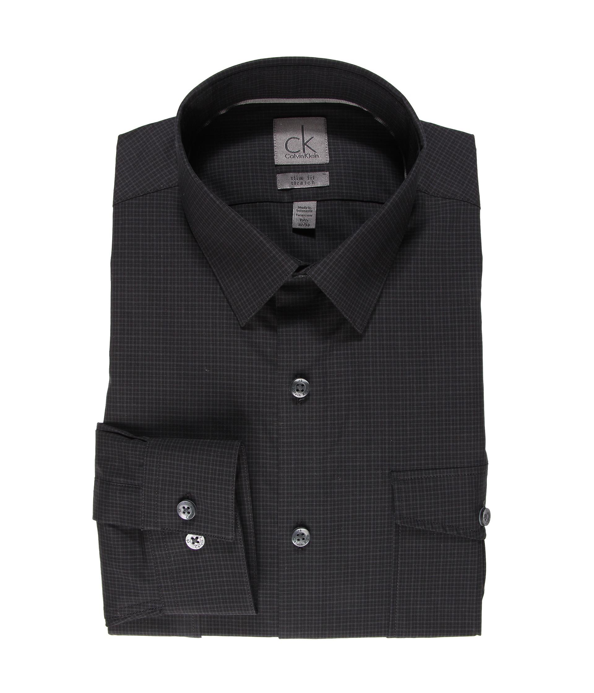 Calvin klein slim fit two pocket l s dress shirt shipped for Calvin klein x fit dress shirt
