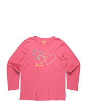 Life is good Kids - Girls' Trio Hearts L/S Creamy™ Tee (Toddler/Little Kids/Big Kids)