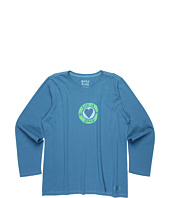 Life is good Kids - Girls' Circle Heart L/S Crusher™ Tee (Little Kids/Big Kids)