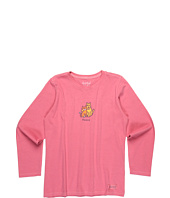 Life is good Kids - Girls' Peace Cat & Dog L/S Crusher™ Tee (Little Kids/Big Kids)