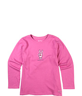Life is good Kids - Girls' Peace Out Glove L/S Crusher™ Tee (Little Kids/Big Kids)