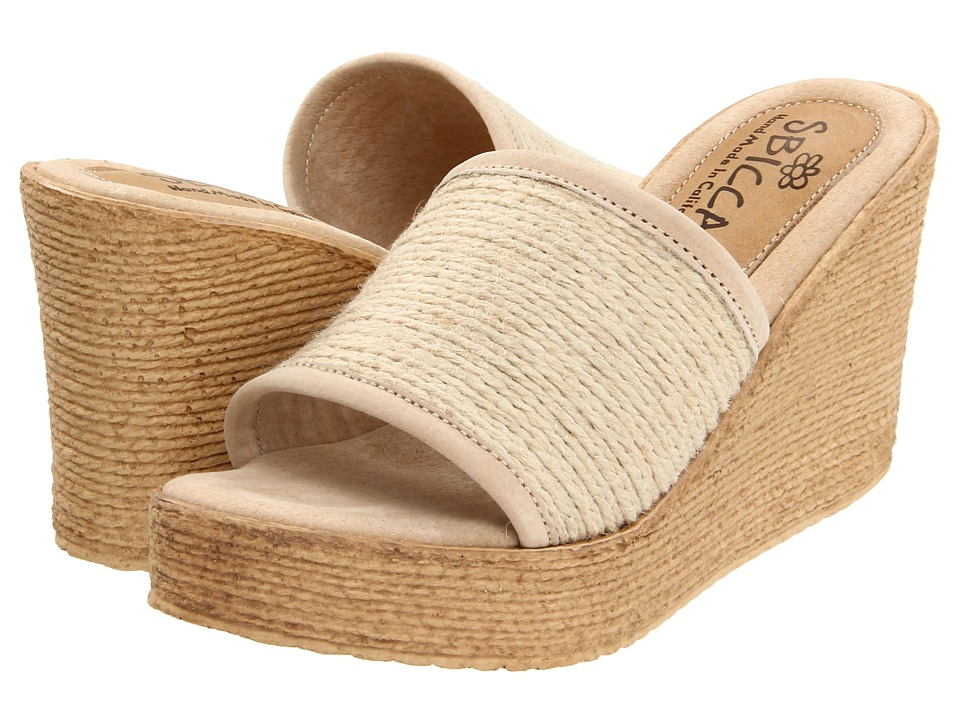 Sbicca Blondie Natural Womens Wedge Shoes